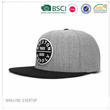 New Coming Applique Flat Bill Cap