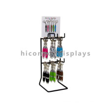 Custom Signage Metal Table Top 2-Tier 6 Hooks Hanging Creative Keychain Ballpoint Pen Display