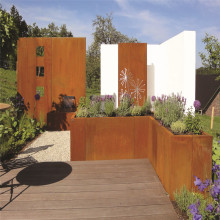 Modern Design Corten Steel Planter Flower Pot