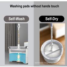 Floor Cleaning Flat Stick and Bucket 360 Magic Spin PVA High Absorbent Aluminium Sponge Mop