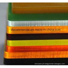 Folha acrílica com filme de PE ou papel Kraft