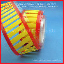Permanent identification cable marker sleeve heat shrink tube printing