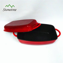 Kitchen Accessories Of Cast Iron Rectangle Fish Pan