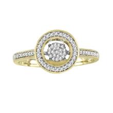 18k Gold Micro Einstellung Tanzen Diamant Ring Schmuck