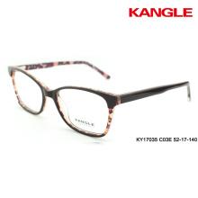 diseño original gafas óptica marco claro 2 tonos gafas de acetato
