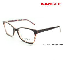 original design eyewear optical frame clear 2 tone acetate glasses