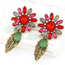Boucles d'oreilles à fleurs baroques exquises personnalisées à la vente chaude