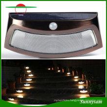 Outdoor Lighting Waterproof Garden Lamp Solar Power 8 LED PIR Motion Sensor Wall Light Security Step/ Stair Light