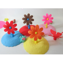 Flower Shape Silicone Cup Lid Suitable for Japan Korea Europe Markets