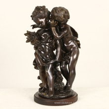 two children metal french statue Auguste Moreau famous bronze sculpture