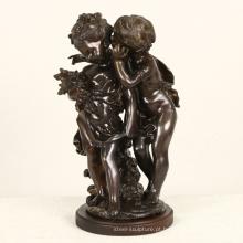 duas crianças metal estátua francesa Auguste Moreau famosa escultura de bronze