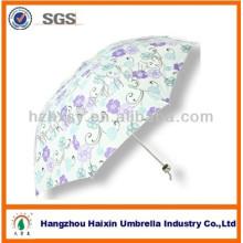 3 klappbare Mode drucken benutzerdefinierte Sonnenschirme zum Verkauf