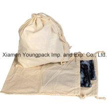 Promocional 100% Natural de tela de algodón traje de dibujo-cadena bolsa