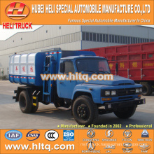Hot sale low price 8m3 NEW dongfeng 4x2 self loading garbage truck diesel engine