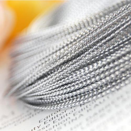 Large quantity provide silver metallic rope