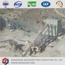 Système de convoyeur à cadre en acier préfabriqué de grande hauteur