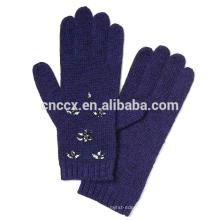 PK17ST033 Embellissement en cristal de gant embellished en laine mérinos italienne