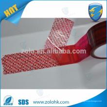 Impresión creativa abierta de la cinta de la calidad de la mejor calidad coloreada embalaje evidente de la manipulación con el número de serie