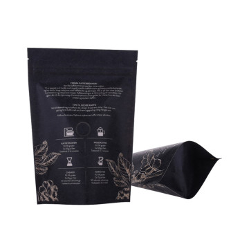 Compost Packaging 3kg Carta Kraft Stand Up Pouch Coffee Bag
