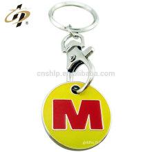Chine porte-clés jeton en métal personnalisé logo émail trolley keychain pour la vente en gros