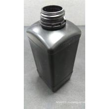 1L квадратная черная пластиковая бутылка
