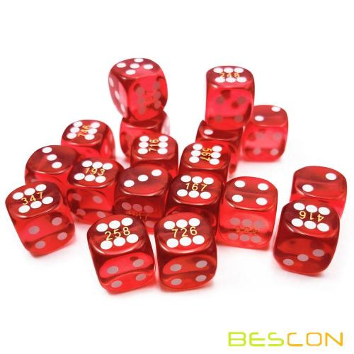 14.5MM Printing Precision Dice 0.57inch with Serial Numbers