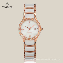 Frau Quarz Keramik Uhr Fashion Watch mit Japan Bewegung 71066