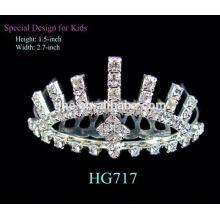 Coroa de brilho tiara tiara grande para tiaras de estilo simples nupcial