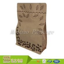Tenez le papier d'emballage de Brown fait sur commande stratifié par emballage alimentaire de papier d'emballage avec la valve et le zip-lock