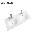 sanitary ware thin edge cabinet double wash basin