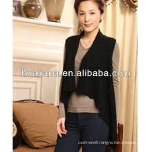 stylish design women cashmere knitting vest