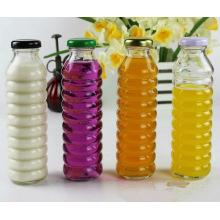 330ml garrafas de vidro de bebida para recipiente de suco de frutas