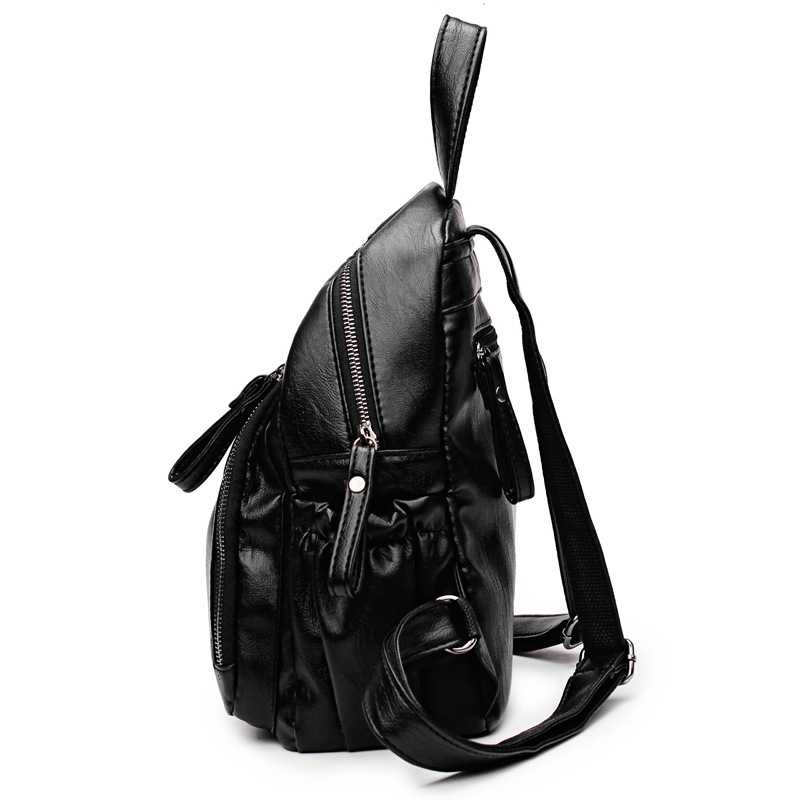waterproof woman leather backpack for girls