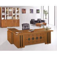 Secretária de escritório de alta qualidade de melamina, mesas de móveis de escritório exclusivas com mesa lateral
