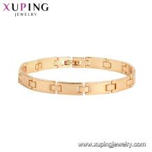 75787 Xuping recién llegado de oro plateado estilo de lujo elegante pulsera de moda para mujeres