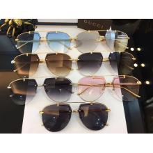 Diseño de moda Oval Semi-sin montura gafas de sol para mujeres