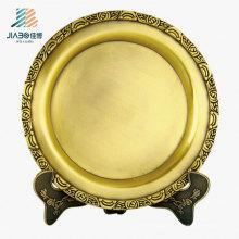 Wx-8074 aceitado personaliza a placa de bronze da lembrança do metal de 20cm para o presente