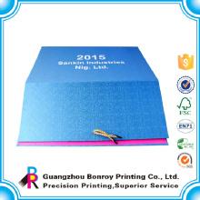 Guangzhou fábrica de papel de arte personalizado 2017 calendario mensual venta al por mayor