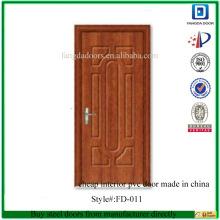 Billige Innenpvc-Tür hergestellt im Porzellan