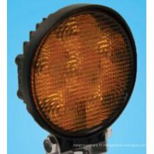 Lampe de travail LED stroboscopique ambre inondation étroit faisceau