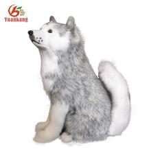 Personalizado Blanco y Negro / Marrón / Rojo Peluche Muñecas Muñeca Peluche Peluche Perro de peluche Felpa Husky para la venta