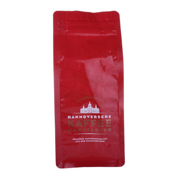 Pocket Ziplock Bags Box Bottom Pouchs Plastic Red Color Coffee Bag