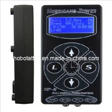 Alta qualidade furacão LCD digital tatuagem fonte de alimentação (hb1005-37)