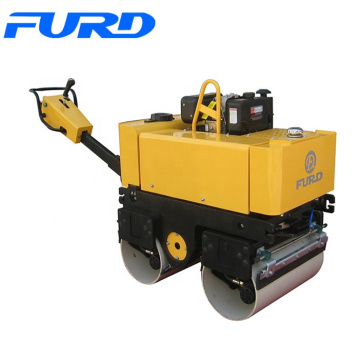 9HP Variable Speed Double Drum Vibratory Roller Machine With 800kg Weight
