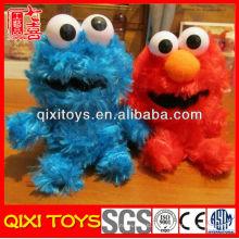 Brinquedos de pelúcia macia roxa fofo cookie monstro