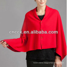 13STC5499 new design ladies knit hooded poncho