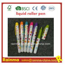Mini Plastic Liquid Roller Pen with Nice Mulit Color