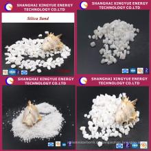 Heißer verkauf niedrigen eisen silica sand für glas produktion