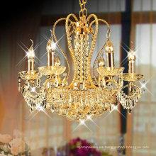 empire 9 Lights small crystal chandelier gold pendant light LT-70055