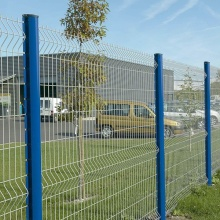 blue Color PVC Coated Welded Fence for Airport